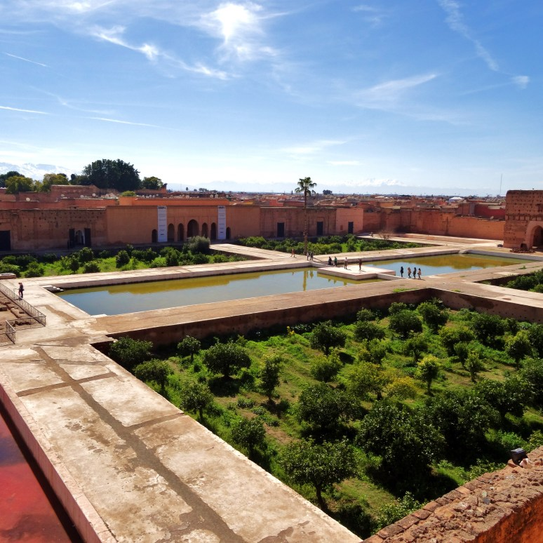 The view from the tower across the palace courtyard