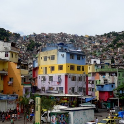 Rochinha favela from the bottom
