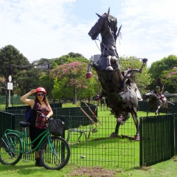 Sculptures like this are spread through the many parks of Buenos Aires