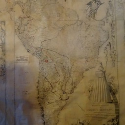 The 1775 map of South America