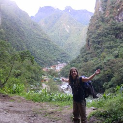 In front of Aguas Calientes