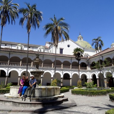 Courtyard in the Muesum of the San Fransisco Convent