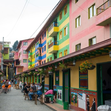 A colourful street in Guatape