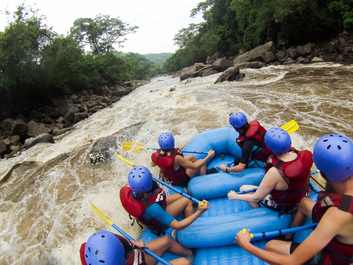 A view down some rapids