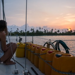 Helen watching sunrise in San Blas (Large)