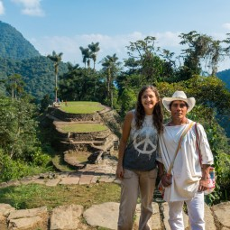 infront of the ciudad perdida
