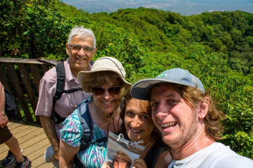 Family selfie beside the crater
