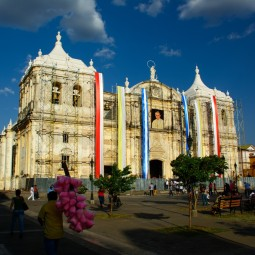 The cathedral decorated for the beatification